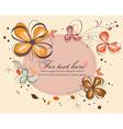 butterflies with floral vector image vector image