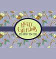 beautiful decorative christmas card vector image