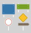 Blank metal information boards set Flat design vector image