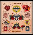 Diamond tattoos vector image