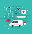 Medical Icons and Objects Flat Style Medicine vector image