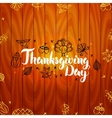 Thanksgiving Day with Wooden Board vector image