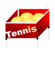 icon tennis vector image vector image