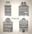 Set of retro house vector image vector image