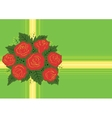 Abstract red roses with background vector image