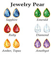Jewelry Pear Isolated Objects vector image