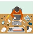 Designer management workplace vector image