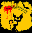 black and yellow Halloween vector image vector image