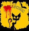 black and yellow Halloween vector image