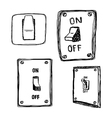 single wall light switch vector image