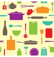 Seamless pattern of kitchen silhouettes vector image vector image