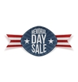 Memorial Day Sale paper Label with Text vector image