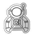 Astronaut suit helmet space outline vector image