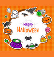 frame with cute halloween vector image