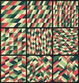 Set of 9 retro seamless patterns vector image