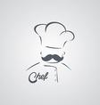 Italian mustache guy master chef vector image