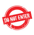 do not enter rubber stamp vector image