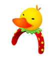 icon duck hairband vector image vector image