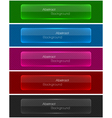 Set of abstract modern style glossy banners vector image