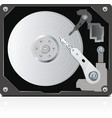 hard disc vector image vector image