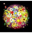 floral bouquet vector image vector image