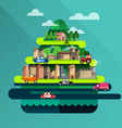 City travel landscape and building vector image vector image