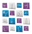 beverages and drink icons vector image vector image