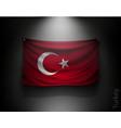 waving flag turkey on a dark wall vector image vector image