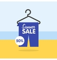 Summer seasonal sale discounts and sales vector image
