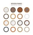 Wooden Round Frames Set vector image vector image