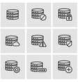 line database icon set vector image vector image