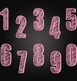 Chalkboard Numbers set Hand Draw Chalk Numbers vector image