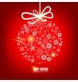 christmas snowflakes bulb vector image