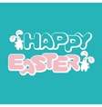 Easter greeting card with bunnies vector image