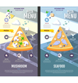 Flat style pizza menu design vector image