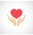 Hand Hold Protect Heart vector image