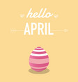 happy easter day with easter egg vector image