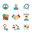 management line flat icons vector image