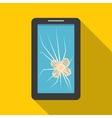 Phone Broken Screen vector image