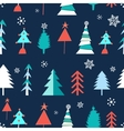 Seamless winter pattern of Christmas trees vector image