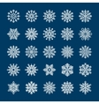 Snowflakes set for winter holiday invitations vector image