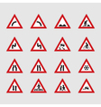 Street signs vector image