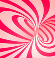 Candy cane spiral background vector image