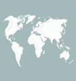 World Map isolated vector image