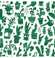 houseplants - seamless background vector image vector image