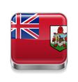 Metal icon of Bermuda vector image vector image