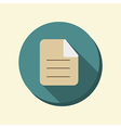 flat circle web icon page of the document vector image