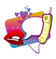 love chatting vector image vector image