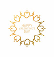 Golden Decorative Floral Frame on White Background vector image