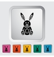 Rabbit toy flat icon vector image vector image